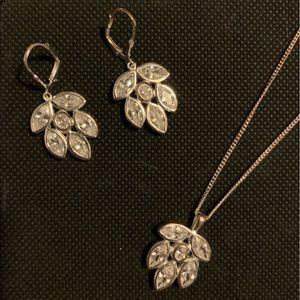 Talbots Sterling Silver Earrings & Necklace Set